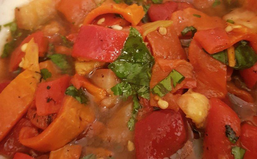 Simple roast pepper & tomatosalad