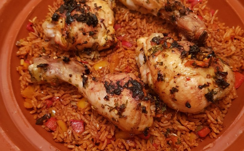 Piri-Piri Chicken with Tomato & Pepper Rice