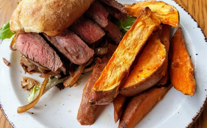 Steak Sandwiches with Sweet Potato Fries