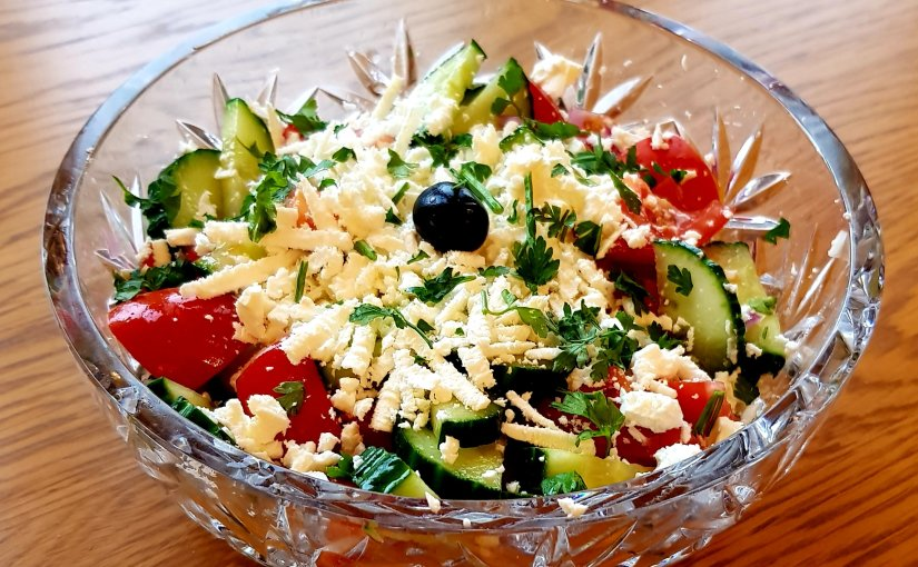 Bulgarian Shopska Salata(Salad)