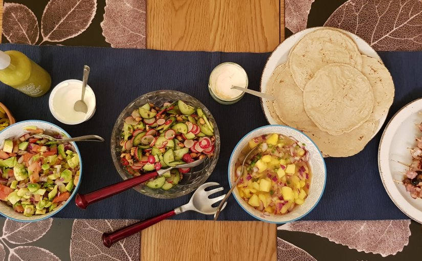 Swordfish tacos with mango & jalapenosalsa