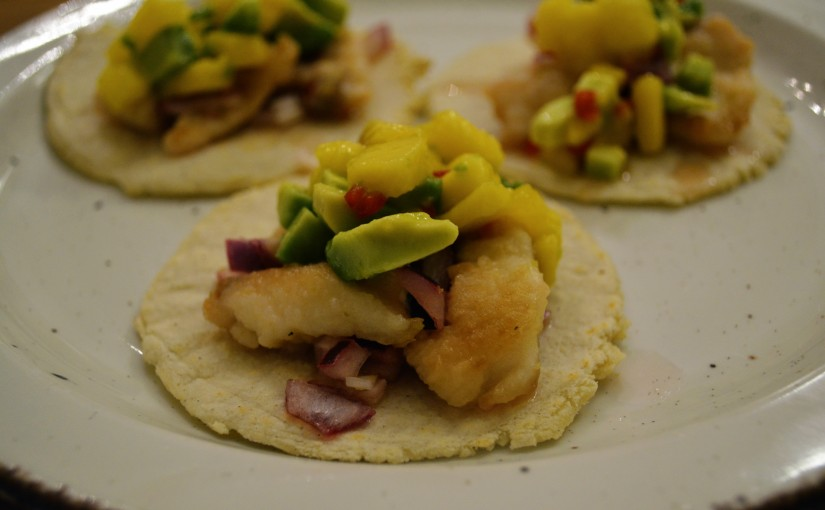 Sea Bream tacos with mango & lime salsa (Bonus taco recipe!)