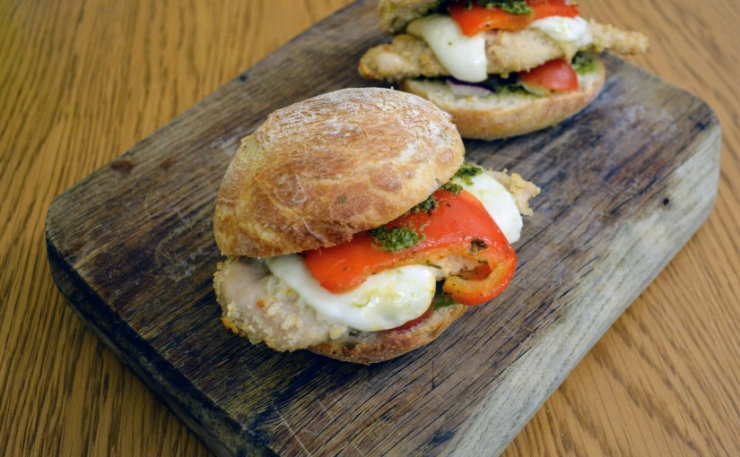 Easy and quick Italian style chicken burgers