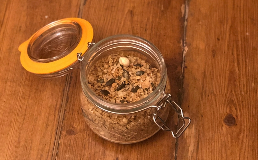 Jordan Bourke's Spelt, help seed and lemon zestgranola
