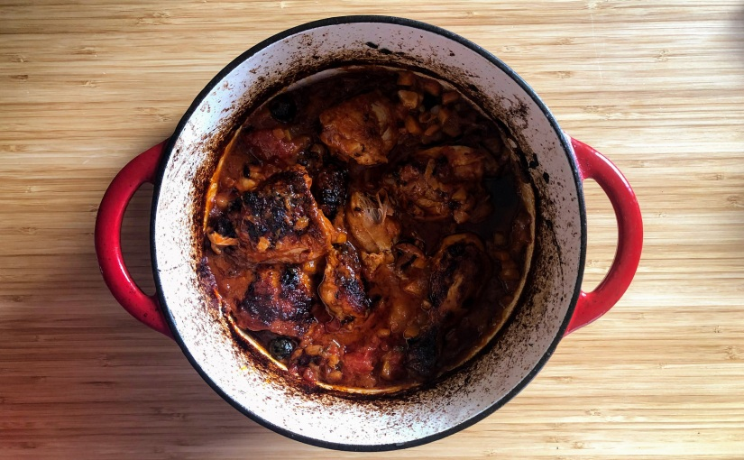Mary Contini's Pollo alla cacciatora (Hunter's chicken)