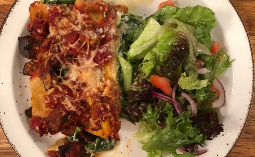Ricotta, Spinach & AubergineLasagne