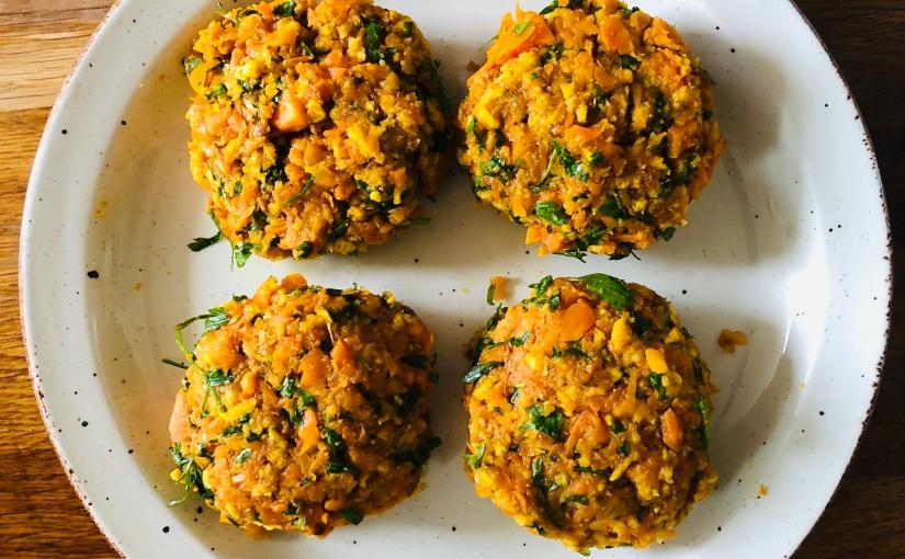 Roasted Carrot VeggieBurgers