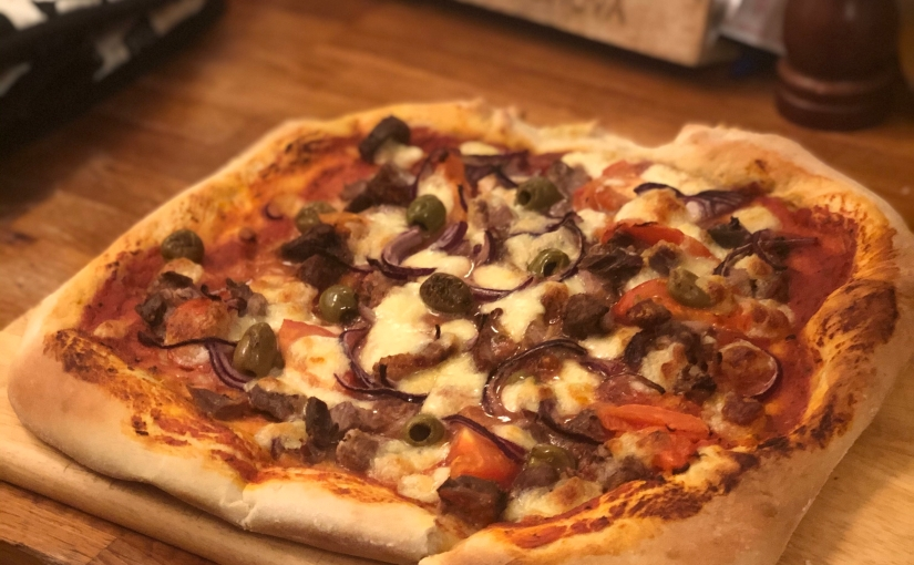 """Use up your Christmas leftovers"" Pizza"