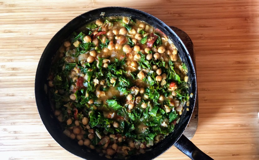 Chickpeas and chardstew