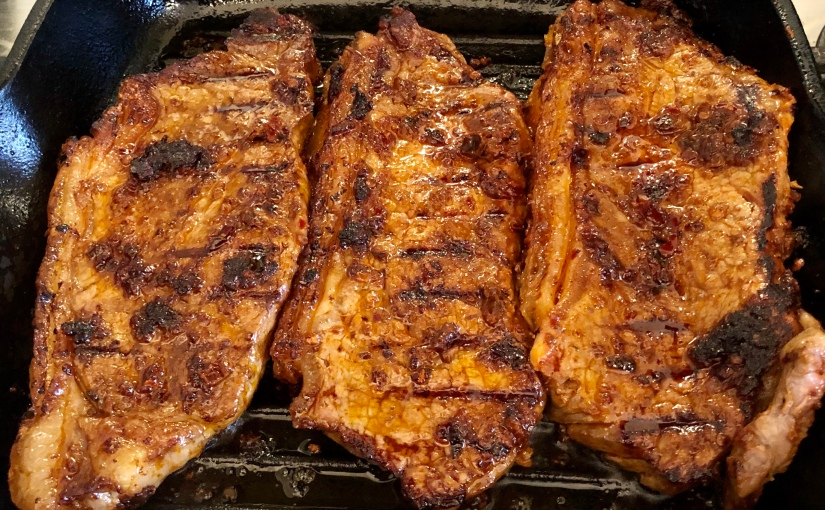 Warm chipotle steak and grainsalad
