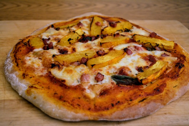Pumpkin, sage and taleggio pizza