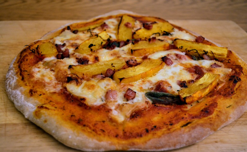 Squash, Taleggio and Sage pizza