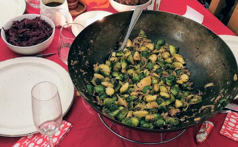 Sprout & nigella seedstir-fry