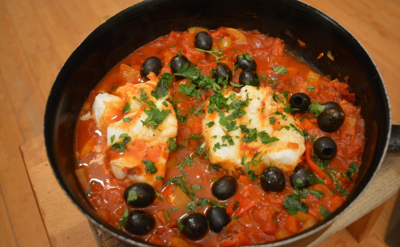 Showcasing Cod: Cod, pepper and tomatostew