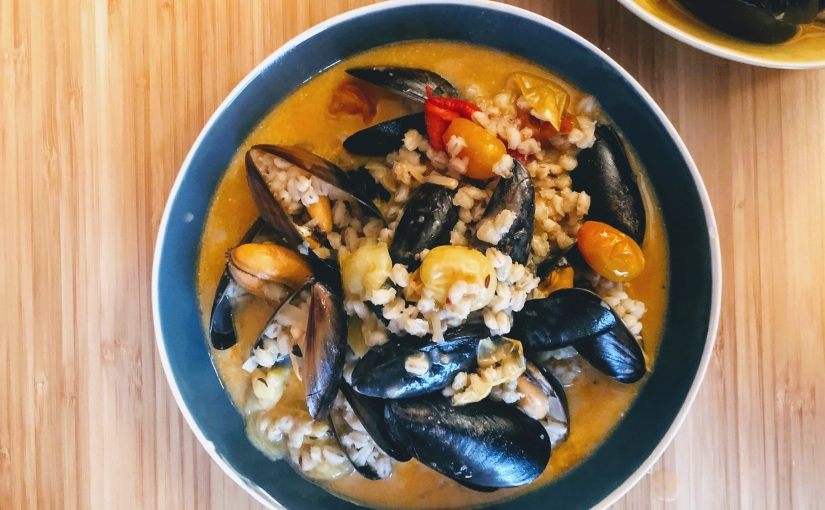 Yotam Ottolenghi's Mussels with BarleyStew